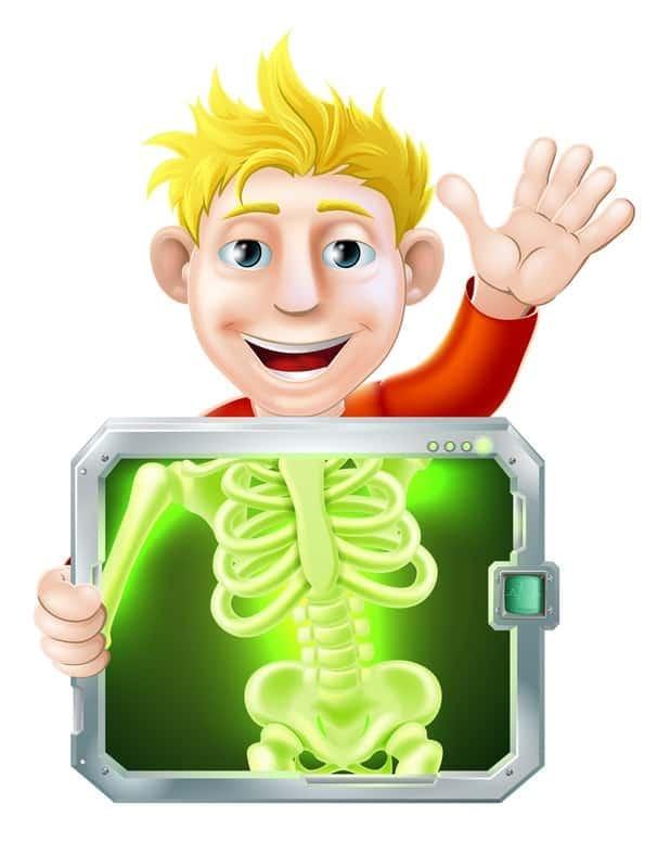 Zdjęcie rtg zęba u osoby nieletniej